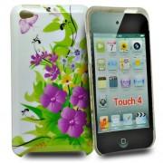 Accessory Master Carcasa rígida de plástico con diseño de flores para Apple iPod Touch 4G, multicolor