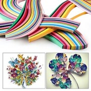 Colorful Paper Craft Art Quilling 400 Strips mix Colors 3/5/7/10mm Width Create Beautiful Art DIY Home Party Decor