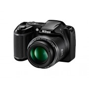 Nikon Coolpix L340 20.0 MP Point And Shoot Digital Camera with 28x Optical Zoom, Card and Camera Bag (Black)