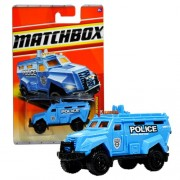 """Mattel Year 2010 Matchbox Mbx Emergency Response Series 1:64 Scale Die Cast Car #59 Blue """"Police Special Response Unit 8"""" Swat Truck (T8996))"""
