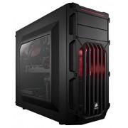 Corsair CC-9011052-WW Case Essential Gaming, Mid Tower Atx Carbide Spec-03, con Finestra e Ventola Frontale a LED, Rosso/Nero