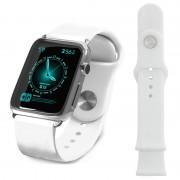 Pulseira de Silicone Tuff-Luv para Apple Watch - 38mm - Branco