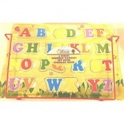 First Learning 4 Wooden Puzzles Set with Storage Rack