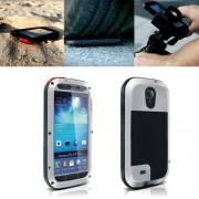 ILS LOVE MEI Metal Flexible Rain Resistant/Waterproof, Sandproof, Snowproof, Dirtproof Case Cover Carcasa Para Samsung Galaxy S4 i9500/(Silver)