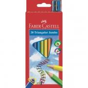 Creioane colorate Junior Grip 20 culori + ascutitoare Faber-Castell