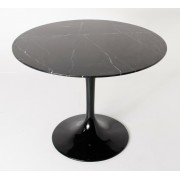 Replica Tulip Table - Black Marble - 80cm