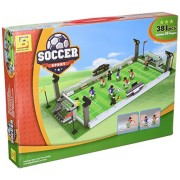 Ausini Football Field 25690 Sport Soccer Game With Action Figures Building Bricks 381pc Educational Blocks Set Compatible To Lego Parts Great Gift Idea For Sports Fan