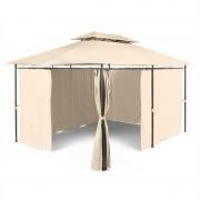Blumfeldt Grandezza Gartenpavillon Partyzelt 3x4m Stahl Polyester beige