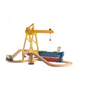 Chuggington Wooden Railway Easy Track Dockyard Delivery