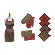 9 Piece Apron Set (Leopard)