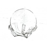 Pandantiv Aur Perla Ovala Neagra