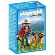 Playmobil Vida en la Montaña - Rescatador de montaña con perro (5431)
