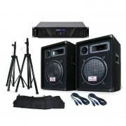 "Electronic Star Système PA ""Soundsaver"" : enceintes sono + ampli DJ + supports + câbles"