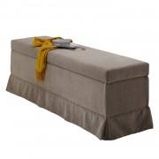 Bedkist Dixon - micro-velours - Beige, loftscape