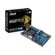 Asus AM3+ M5A97 Plus Scheda Madre AMD, ATX, 4xD3 2133, USB 2.0, SATA 3, Nero