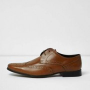 River Island Mens Tan leather smart brogues