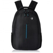 HP Black Leather Casual Backpacks
