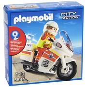 Playmobil Guardacostas - Moto de emergencias con luz, playset (5544)