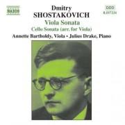 D Shostakovich - Viola Sonata/ Cello Sonata (0747313223121) (1 CD)