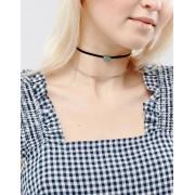 ASOS Двухрядное ожерелье-чокер со шнурком и камнем ASOS - Черный