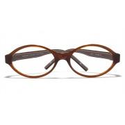 Free Frame : Vincent Chase Flex VC 8030 Brown Transparent C3 Kids' Eyeglasses (Kids 6-10 yrs)
