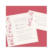 Square Embossed Cherry Blossoms Wedding Invitation Set
