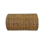 BangleEmporium Gold Bangles Barati Collection! 48 Piece Sparkling Bangle Bracelets Size Small 2.6