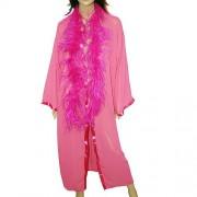 Robe longo com boá rosa - ATELIE BE & CI PP
