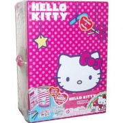Sanrio Hello Kitty Keeper Box Set with 1 Keepers 1 Hello Kitty Figurine 5 Washable Markers 2 Sticker Sheets and 2 Dioramas