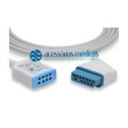 CABO TRONCO DE ECG COMPATÍVEL Nihon Kohden® JC-906PA (NQA-E409) / Registro Anvisa 80787710012 - NQA-E409