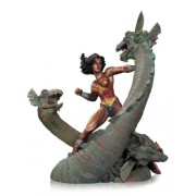 DC DIRECT WONDER WOMAN VS HYDRA MINI PATINA STATUA