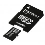 Card Transcend microSDHC 32GB Class 4 cu adaptor SD
