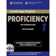 Cambridge English Proficiency 1 for Updated Exam Self-study Pack (student's Book with Answers and Audio CDs (2)) by Cambridge ESOL