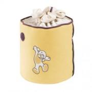 Câlin Câline Eliott 401.32 - Bolsa para guardar juguetes, diseño de osito y círculos, beige y violeta