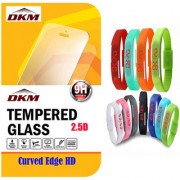 2.5D Curved Edge HD Tempered Glass for Lava A67 with Waterproof Sports LED Digital Jelly Watch