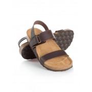 Walbusch Leder-Sandale Braun 42