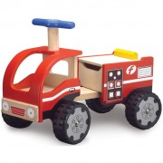 Wonderworld Ride-on Fire Engine Wood Red HOUT192417