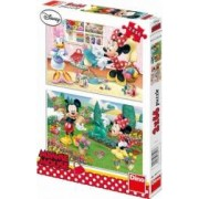 Puzzle 2 in 1 - Minnie cea harnica 66 piese