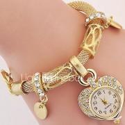 Dames Kinderen Modieus horloge Polshorloge Armbandhorloge Kwarts / Legering BandVintage Heart Shape Bohémien Bedeltjes Bangle armband