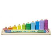 Melissa & Doug Counting Shape Stacker, Multi Color