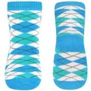 Babyono - Skarpetki frotte antypoślizgowe 12m + - niebieski