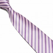 """Pink/Purple Pattern Striped Microfibre Tie"""