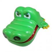 Clásico juegos juguetes familiares, caja grande de cocodrilo muerde hablarle a la pared