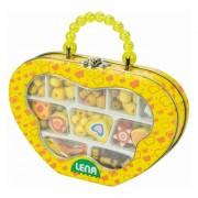 Lena Fa gyöngyfűzős készlet, sárga táskában
