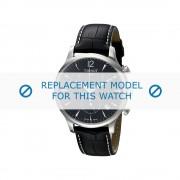 Tissot (vervangend model) horlogeband Tradition - T063.617.16.057.00 Leder Zwart 20mm