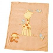 Alvi Babydecke Giraffe USF 50+ 75x100 cm orange