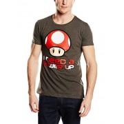 Nintendo T-Shirt -M- I need a Power Up, grau [Edizione: Germania]