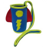 Sip n Throw - Sippy Cup Koozie w/ strap - tether to Stroller Car Seat High Chair - Rocket Ship
