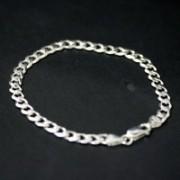 Pulseira de prata 925 de elos 18 cm / 5 mm