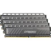 Ballistix Tactical 16GB Kit (4GBx4) DDR4 2666 MT/s (PC4-21300) DIMM 288-Pin Memory - BLT4C4G4D26AFTA